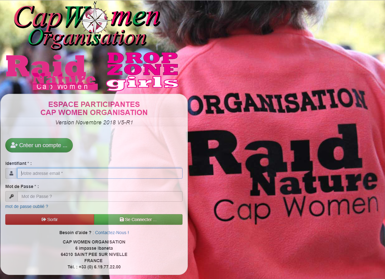 Inscription édition 2019, Raid Aventure Nature découverte Multisports réservé aux femmes CAP WOMEN, Just For girls