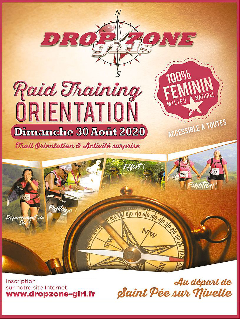Affiche Dropzone Girls Edition Aout 2020 Raid Orientation Nature Feminin